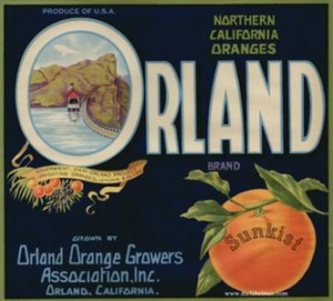Orland Orange Growers Label